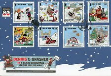 Isle of Man IOM 2018 FDC Beano Christmas Dennis Menace 8v Cover Comics Stamps
