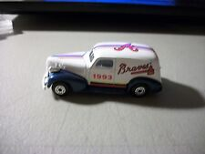 1993 Matchbox '39 Chevy Sedan Delivery diecast 3.25 inches long Atlanta Braves