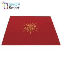 TAROT CLOTH SUN VELVET EMBROIDED RED COLOR LO SCARABEO 80X80 CM NEW