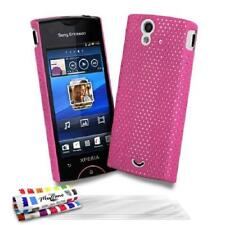 Sony xperia ray case - the pink rigid silicone alveolia (tpu) + 3 movies offered