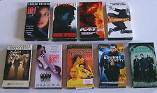 VHS Tapes Movies Lot of 9 Thriller Crime Action Adventure Cruise Damon Reeves