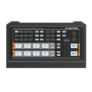 AVMATRIX HVS0402U MICRO 4 CHANNEL HDMI LIVE STREAMING VIDEO SWITCHER 1×HDMI PGM