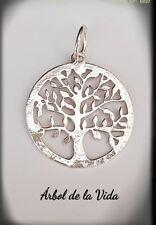 ARBOL DE LA VIDA PLATA DE LEY 925 ml TREE OF LIFE SILVER,COLGANTE ÁRBOL GEOMETRI