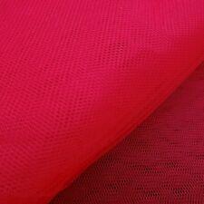 """RED HARD NET HEX MESH FABRIC DRESS NETTING 60"""" PETTICOAT UNDERSKIRT CRINOLINE"""