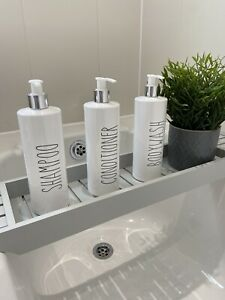 Personalised shampoo conditioner dispenser bottles