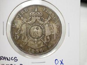1856 D  France 5 Francs Napoleon III KM-782.3 #3-74