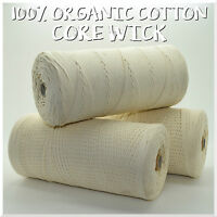 100% Cotton Core for Candle Wick & Candle Making and Crafts - 4 Sizes - C2O