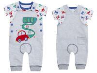 Baby Boys Animal Safari Jungle Wild Camo Mock T-Shirt Shorts 2 Piece Romper Set