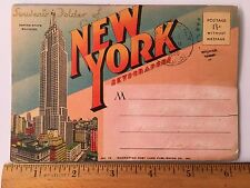 Vintage Souvenir Folder New York Skyscrapers 1946 Postmarked Vintage Color
