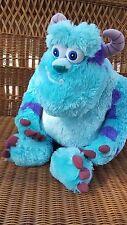 "Disney Pixar Sully Monster Inc Plush Blue Purple Large 19"" soft shaggy VGUC"