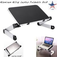 Aluminum Alloy Laptop Portable Foldable Adjustable Desk Computer Table Stand US