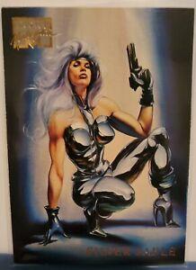 1996 Marvel Masterpieces Base #43 SILVER SABLE (Boris & Julie series) NM