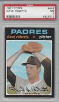 1971 Topps baseball card #448 Dave Roberts San Diego Padres PSA 7 NM