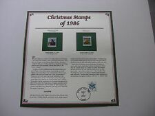 22 Cent Madonna and Child and Village Scene 1986 Christmas Stamps