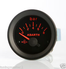 Manometro Strumento Road Italia Abarth Delta Pressione Olio 0-8 BAR 52mm no sens