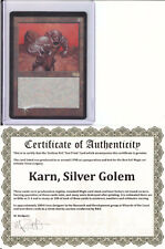 KARN, SILVER GOLEM    TEXTLESS  FOIL  ***TEST PRINT***   MTG MAGIC THE GATHERING