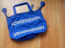 HOLLISTER  NWT Cinched Shine  TOTE BOOK SCHOOL BAG Royal Blue by Abercrombie
