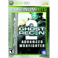 Tom Clancy's Ghost Recon Advanced Warfighter 2 For Xbox 360 Shooter Very Good 3E
