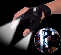 Pair LED Light Finger Lighting Flashing Outdoors Repair Work Hiking Gloves Hot
