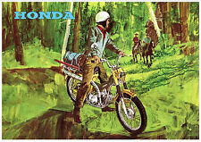 HONDA Poster CT90 1967 1968 1969 and 1970 Pop Art Suitable to Frame