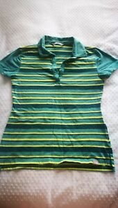 THE NORTH FACE  TNF Women's Stripe Polo Style Short Sleeve Shirt Top SMALL