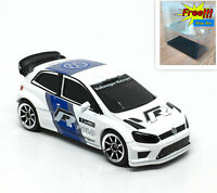 Majorette Volkswagen Polo R WRC White Racing Car 1/57 264D no Package