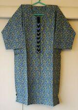 African Traditional Men Dashiki Kente Shirt & Trousers Set - Blue & Yellow