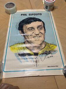 RARE 1971 PHIL ESPOSITO BOSTON GLOBE Newspaper Pin Up Poster BRUINS