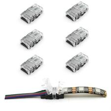 4 pin 24v lighting led light strip connectors ebay 5pcs rgb led strip clip pcb wire cable connector for 5050 3528 led strip light aloadofball Image collections
