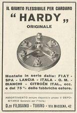 W6123 Il giunto flessibile per cardano HARDY - Pubblicità 1934 - Advertising