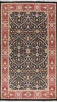 5x7 Vegetable Dye Wool/ Silk Tebriz Oriental Area Rug Hand-knotted Floral Carpet