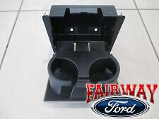 08 thru 10 Super Duty OEM Ford In-Dash Instrument Panel Cup Holder STONE - GREY