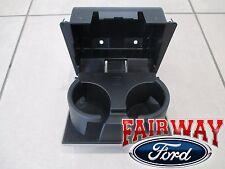 08 thru 10 Super Duty OEM Ford In-Dash Instrument Panel Cup Holder STONE - GREY