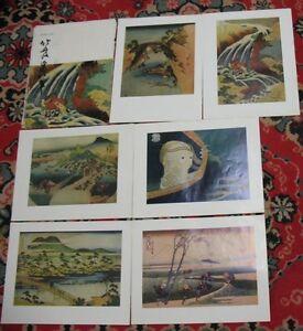 Japanese Japan painting Rare POST CARD Set 16 reproductions Big Hokusai Art Old1