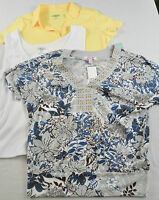 women's Hillard & Hanson lot of 3 knit top size PL short sleeves/sleevless