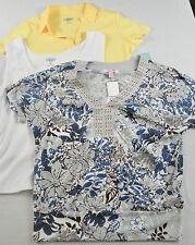 WOMEN'S LOT OF 3 KNIT TOPS PETITE LARGE ~ LOW PRICE FOR 3! GREAT LOOKING SUMMER