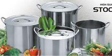 New 4 Sets JARHILL 15/11/8/6 QT Stainless Steel Stock Pots w/ Lids 0.48mm thick