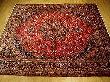9.4 x 12.8 Handmade High Quality Antique Persian Tabriz Rug _Excellent Condition