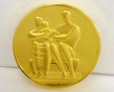 The World'S Great Sculptures Medal (Family Group) 24K/ Bronze, Free Shipping!