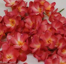 72 SILK PICKS FRANGIPANI SMALL HEADS HOT BEAUTY PINK WEDDING FLOWER SCATTERS