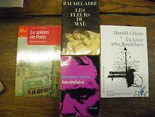Lot de 4 livres de et sur  Baudelaire Les fleurs du mal Le spleen de Paris