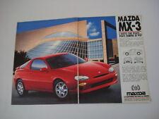 advertising Pubblicità 1992 MAZDA MX-3 MX3 MX 3