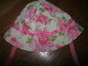 NWT Janie and Jack About Town Rose Reversible Hat Girl 3T,3