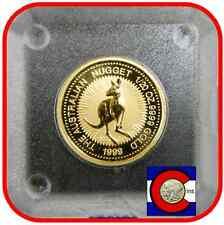 1999 Australia Nugget (Kangaroo) 1/20 oz  $5 Gold Coin