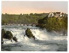 Rheinfall mit Schloss LAUFEN Schiffchen A4 FOTO STAMPA