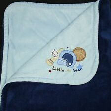 Koala Baby Blanket Navy Blue Little All Star Sports Embroidered Thick Plush Crib