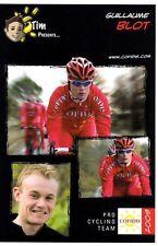 CYCLISME carte cycliste GUILLAUME BLOT équipe COFIDIS 2009