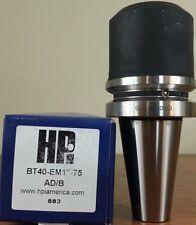 "HPI Pioneer BT40 1"" End Mill Holder 2.95"" Coolant Thru DIN AD/B **NEW**"