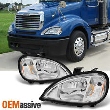 Fit 2004-2013 Freightliner Columbia Headlights Lamps Driver Left+Passenger Right