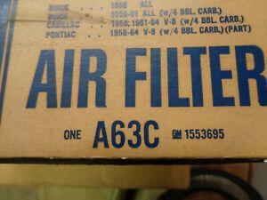 VINTAGE  ACDelco A63C AIR FILTER 58 BUICK 58 CADILLAC 58-64 PONTIAC GTO W/4 BBL